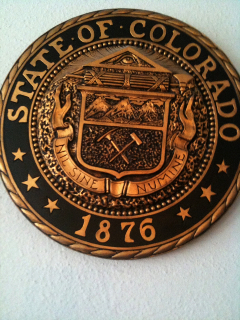 Colorado Seal with all seeing eye